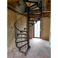 Stairs in wrought iron