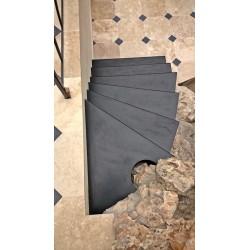 Escalier marche en acier lisse