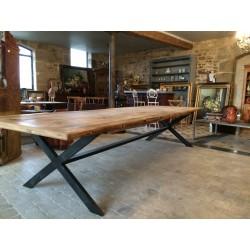 Rectangular Wooden & Iron Table