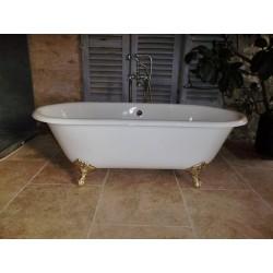 Baignoire en fonte avec 2 bords arrondis