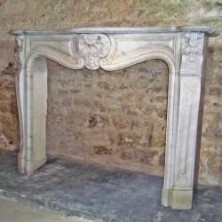 Cheminée ancienne style louis XV