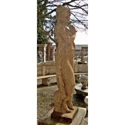Statues pierre dur rustique